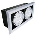 Lampada Led Forro com spot duplo, 5W cada, branco quente Luxgen