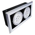 Lampada Led Forro com spot duplo, 7W cada, branco quente Luxgen